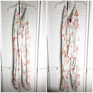 New DRA Floral Halter Jumpsuit with Pockets S